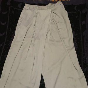 Silver/grey wide leg pants